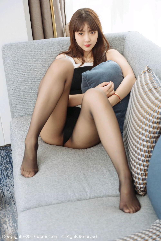[XiuRen] Vol.2299 Ke Le Vicky 18P, Black Silk, Ke Le Vicky, Pure, Tall, Xiuren