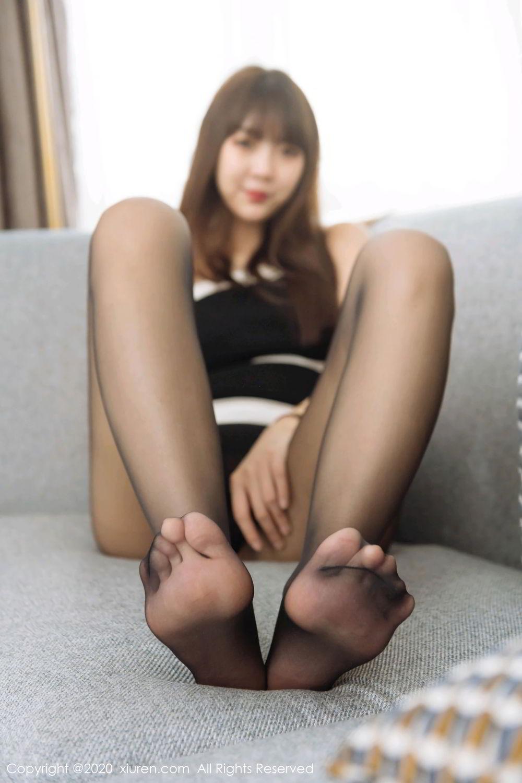 [XiuRen] Vol.2299 Ke Le Vicky 25P, Black Silk, Ke Le Vicky, Pure, Tall, Xiuren