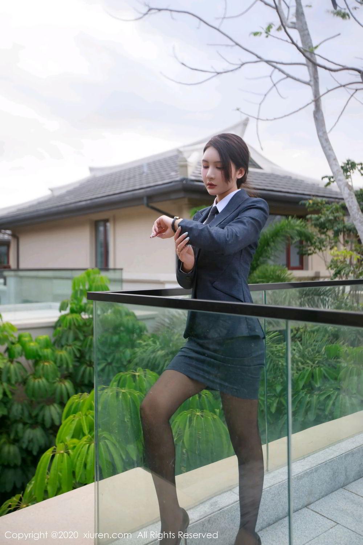 [XiuRen] Vol.2309 Gu Nai Nai 1P, Black Silk, Solo Yi Fei, Uniform, Xiuren