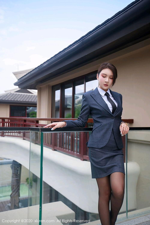 [XiuRen] Vol.2309 Gu Nai Nai 23P, Black Silk, Solo Yi Fei, Uniform, Xiuren