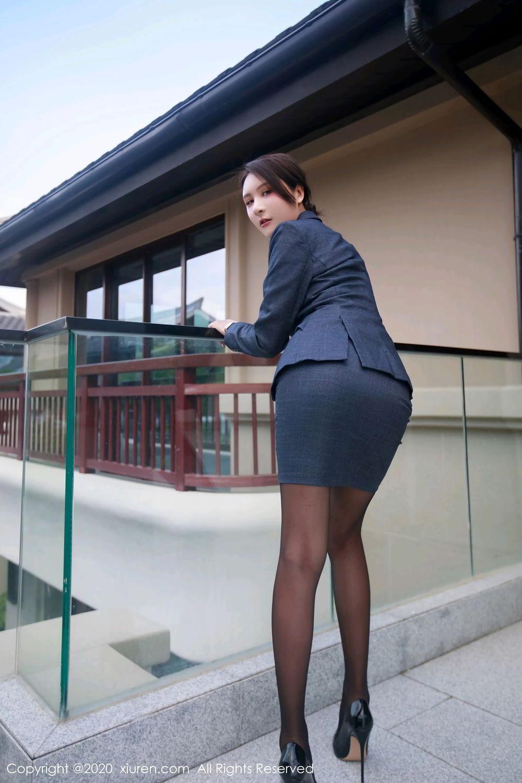 [XiuRen] Vol.2309 Gu Nai Nai 67P, Black Silk, Solo Yi Fei, Uniform, Xiuren