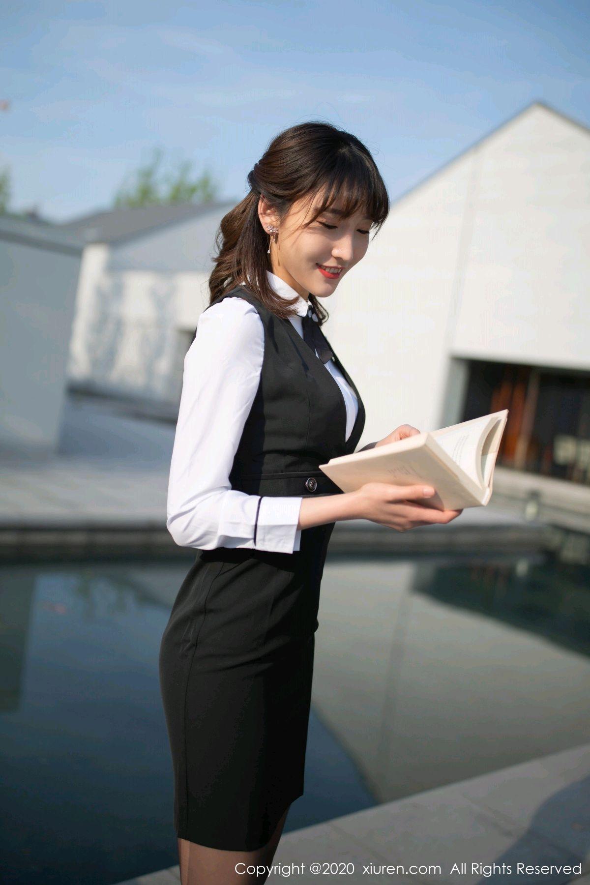 [XiuRen] Vol.2312 Lu Xuan Xuan 1P, Black Silk, Lu Xuan Xuan, Underwear, Xiuren