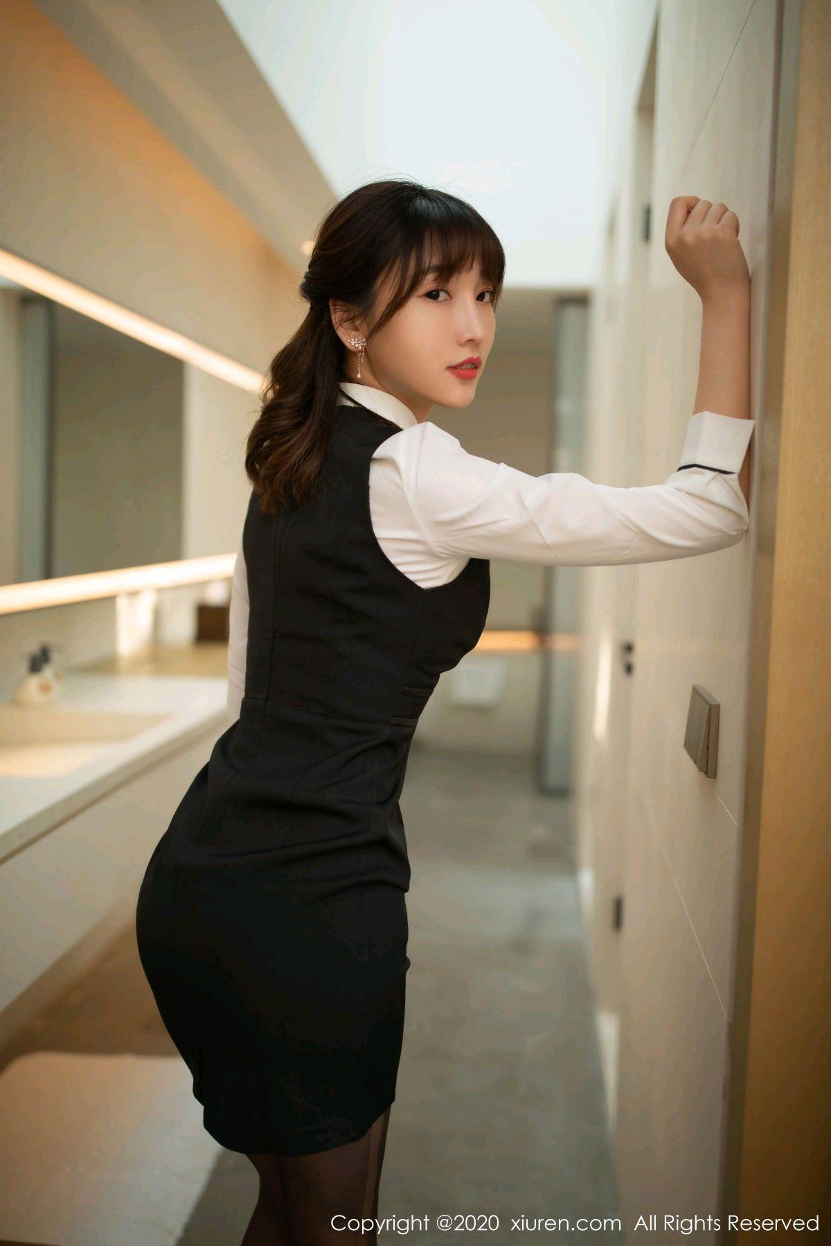 [XiuRen] Vol.2312 Lu Xuan Xuan 21P, Black Silk, Lu Xuan Xuan, Underwear, Xiuren