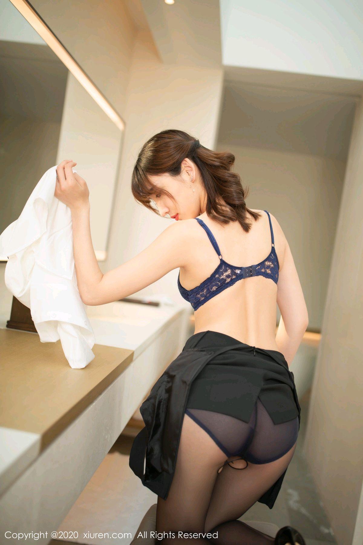 [XiuRen] Vol.2312 Lu Xuan Xuan 34P, Black Silk, Lu Xuan Xuan, Underwear, Xiuren