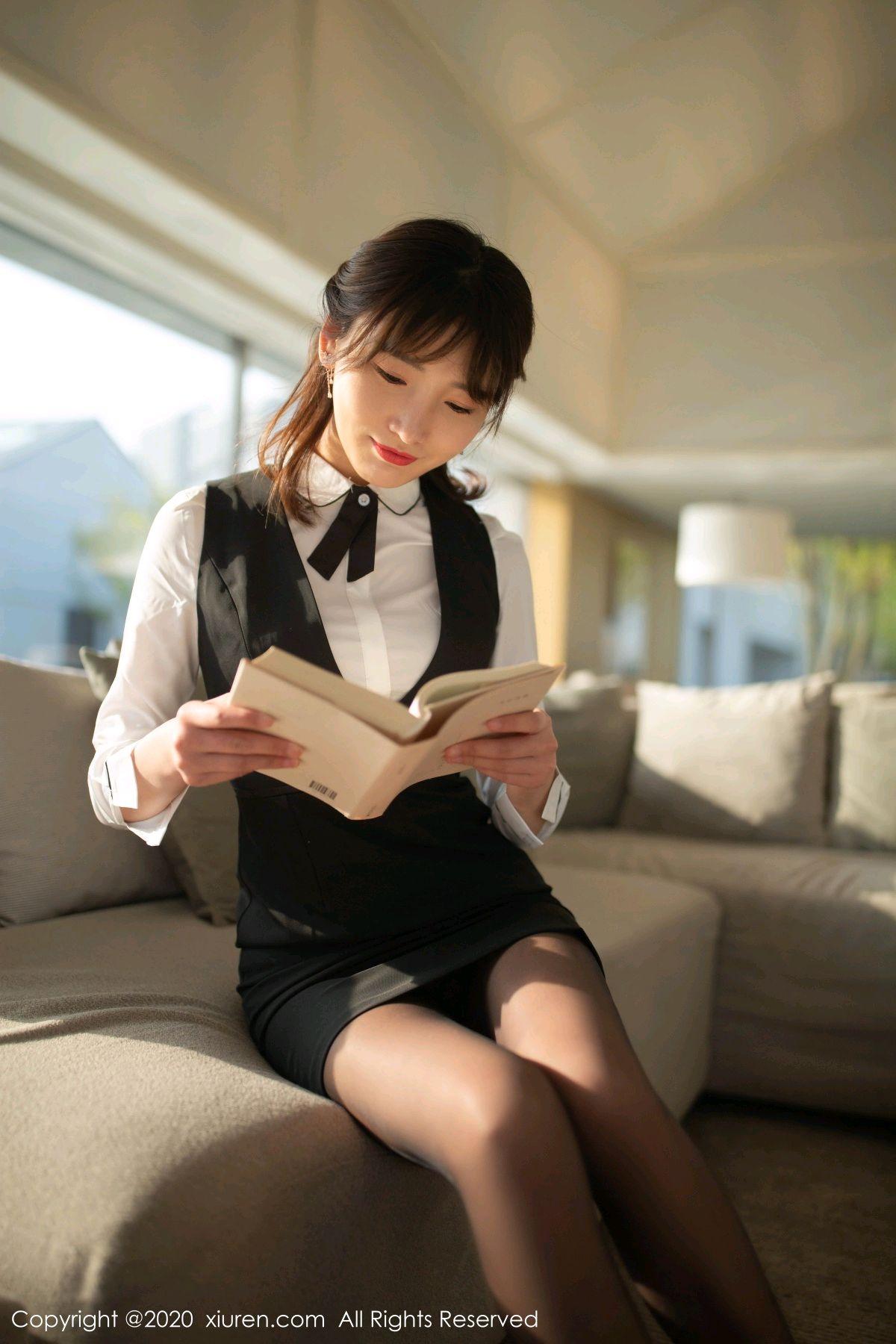 [XiuRen] Vol.2312 Lu Xuan Xuan 3P, Black Silk, Lu Xuan Xuan, Underwear, Xiuren