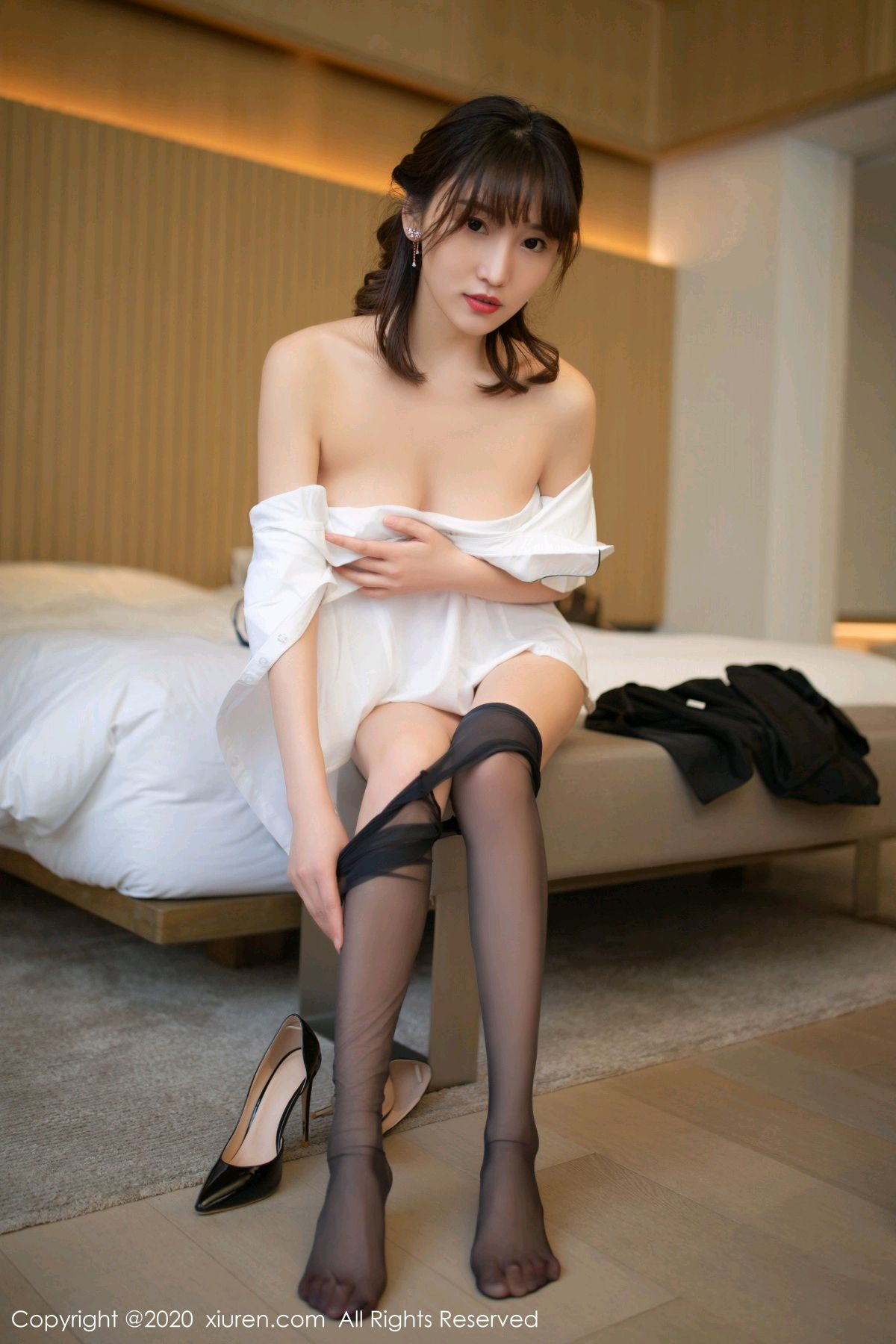 [XiuRen] Vol.2312 Lu Xuan Xuan 65P, Black Silk, Lu Xuan Xuan, Underwear, Xiuren