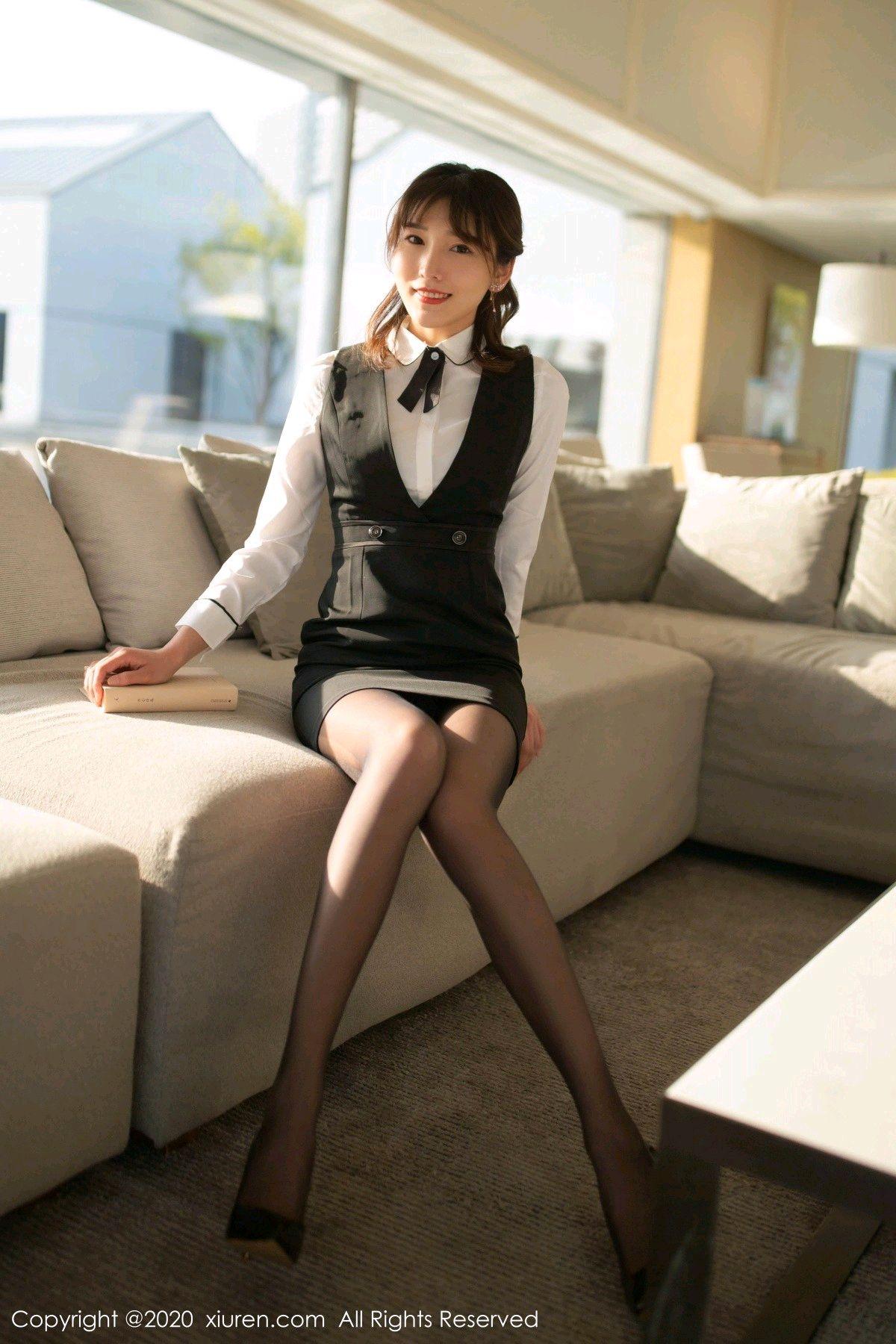 [XiuRen] Vol.2312 Lu Xuan Xuan 6P, Black Silk, Lu Xuan Xuan, Underwear, Xiuren