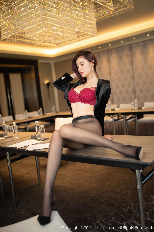 [XiuRen] Vol.2315 Jiu Shi A Zhu 17P, Black Silk, Jiu Shi A Zhu, Tall, Underwear, Xiuren