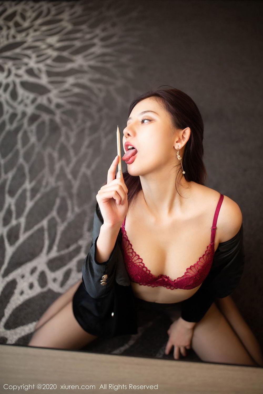 [XiuRen] Vol.2315 Jiu Shi A Zhu 19P, Black Silk, Jiu Shi A Zhu, Tall, Underwear, Xiuren