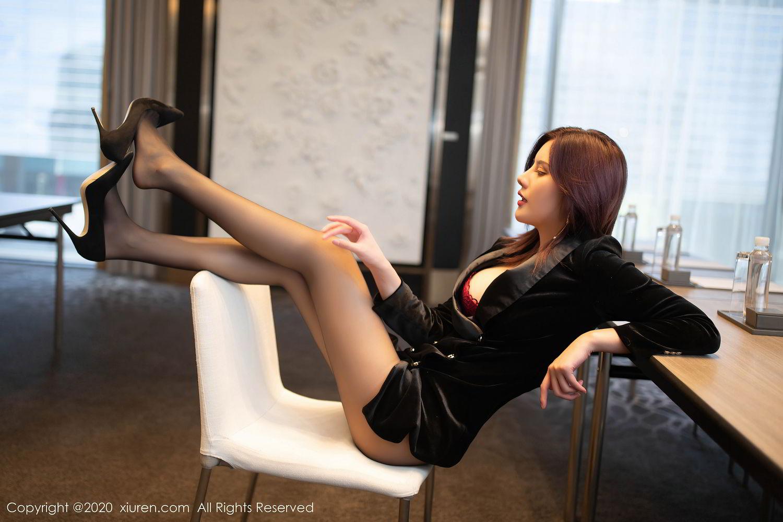[XiuRen] Vol.2315 Jiu Shi A Zhu 23P, Black Silk, Jiu Shi A Zhu, Tall, Underwear, Xiuren