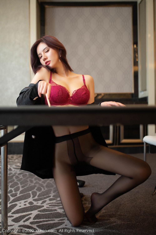 [XiuRen] Vol.2315 Jiu Shi A Zhu 32P, Black Silk, Jiu Shi A Zhu, Tall, Underwear, Xiuren