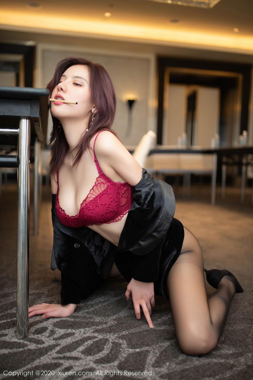 [XiuRen] Vol.2315 Jiu Shi A Zhu 36P, Black Silk, Jiu Shi A Zhu, Tall, Underwear, Xiuren