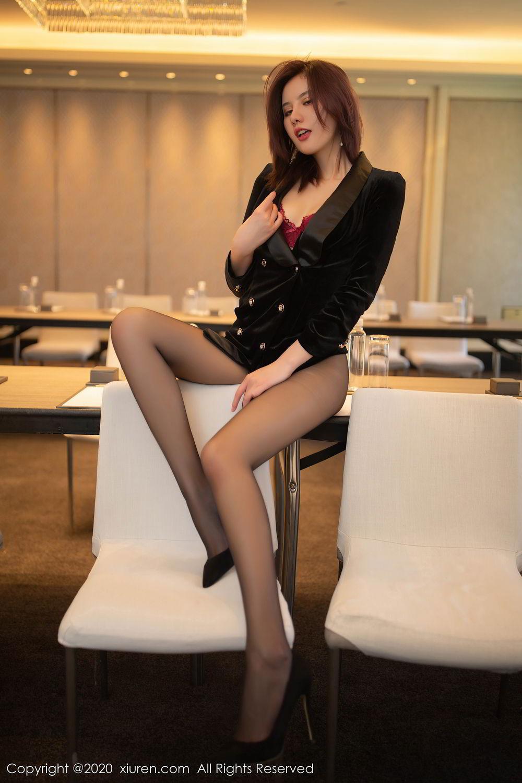 [XiuRen] Vol.2315 Jiu Shi A Zhu 56P, Black Silk, Jiu Shi A Zhu, Tall, Underwear, Xiuren