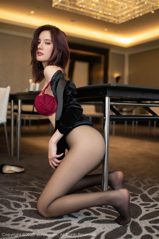 [XiuRen] Vol.2315 Jiu Shi A Zhu 70P, Black Silk, Jiu Shi A Zhu, Tall, Underwear, Xiuren