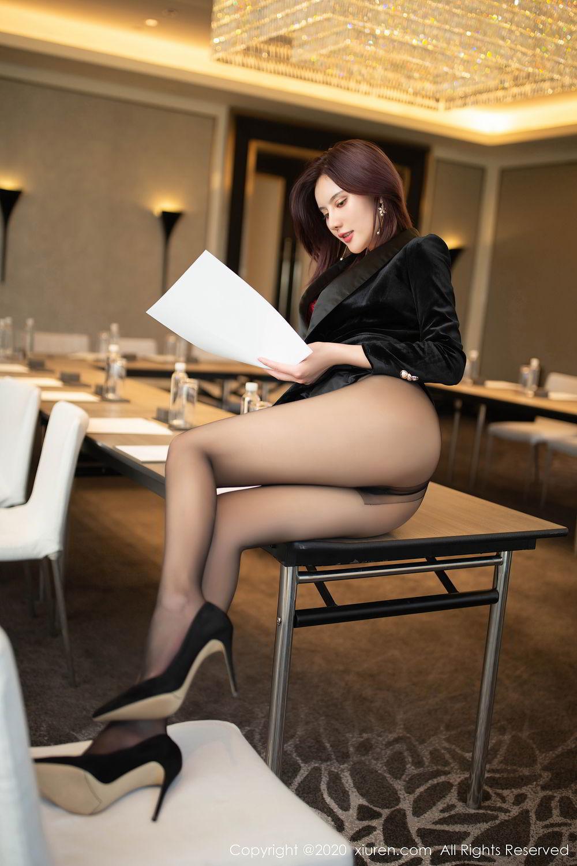[XiuRen] Vol.2315 Jiu Shi A Zhu 9P, Black Silk, Jiu Shi A Zhu, Tall, Underwear, Xiuren