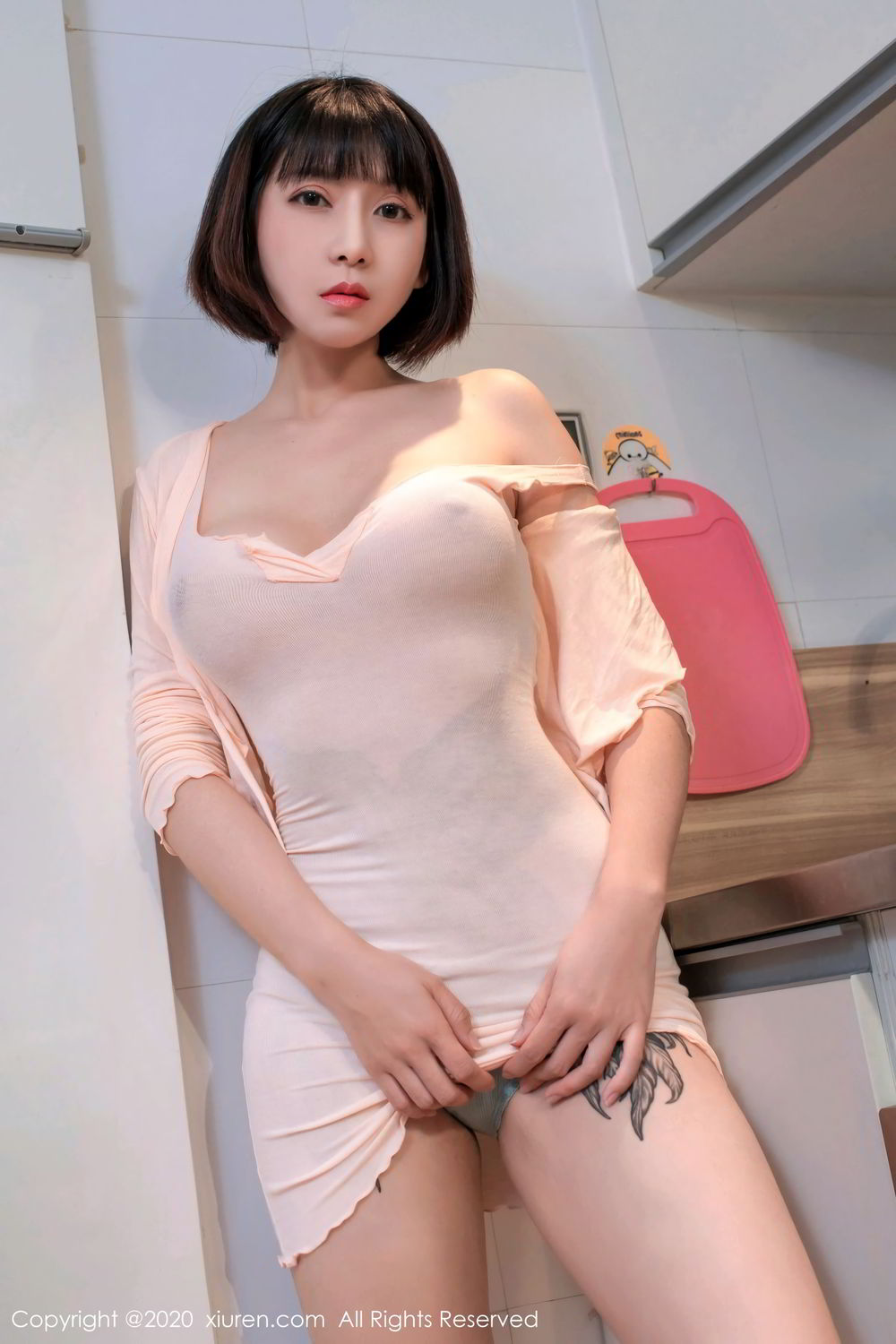 [XiuRen] Vol.2318 An Ni Si Duo La 41P, An Ni Si Duo La, Black Silk, Cheongsam, Xiuren