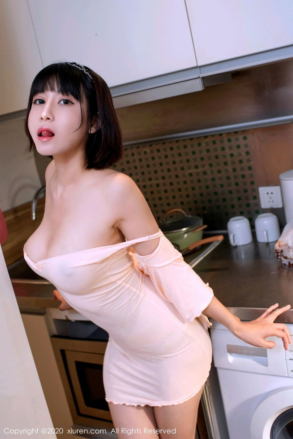 [XiuRen] Vol.2318 An Ni Si Duo La 57P, An Ni Si Duo La, Black Silk, Cheongsam, Xiuren