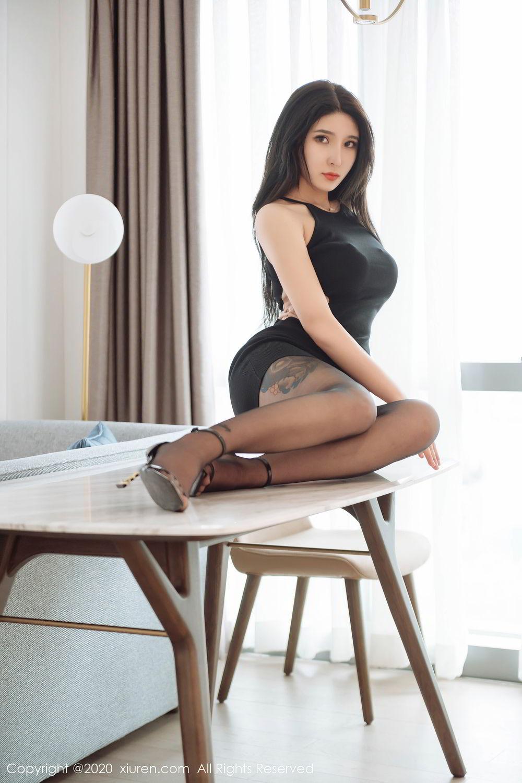 [XiuRen] Vol.2324 Shu Shu Mei Mei 11P, Black Silk, Pretty, Shu Shu Mei Mei, Xiuren