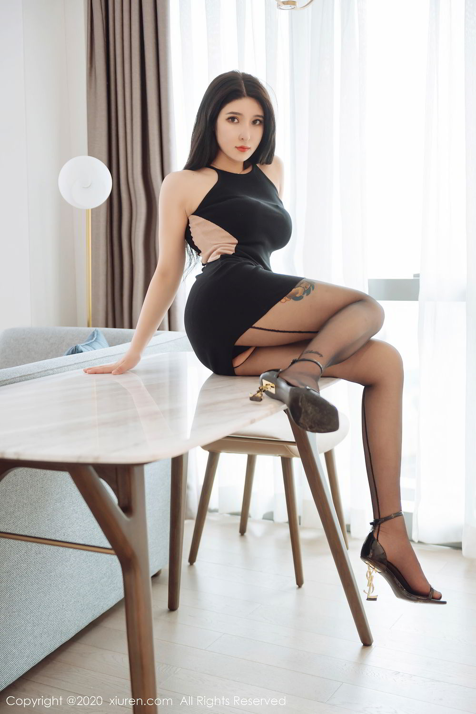 [XiuRen] Vol.2324 Shu Shu Mei Mei 15P, Black Silk, Pretty, Shu Shu Mei Mei, Xiuren