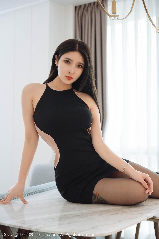 [XiuRen] Vol.2324 Shu Shu Mei Mei 50P, Black Silk, Pretty, Shu Shu Mei Mei, Xiuren