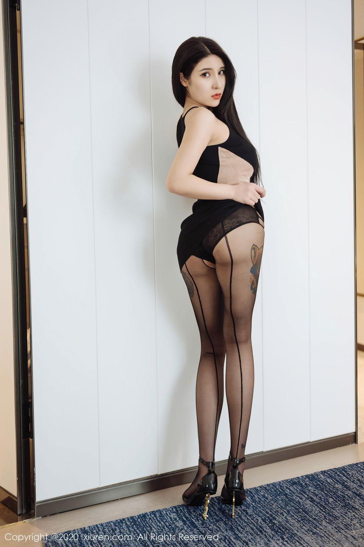 [XiuRen] Vol.2324 Shu Shu Mei Mei 5P, Black Silk, Pretty, Shu Shu Mei Mei, Xiuren