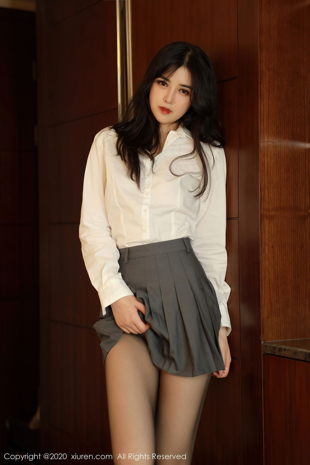 [XiuRen] Vol.2330 Han Jing An 15P, Han Jing An, Tall, Uniform, Xiuren