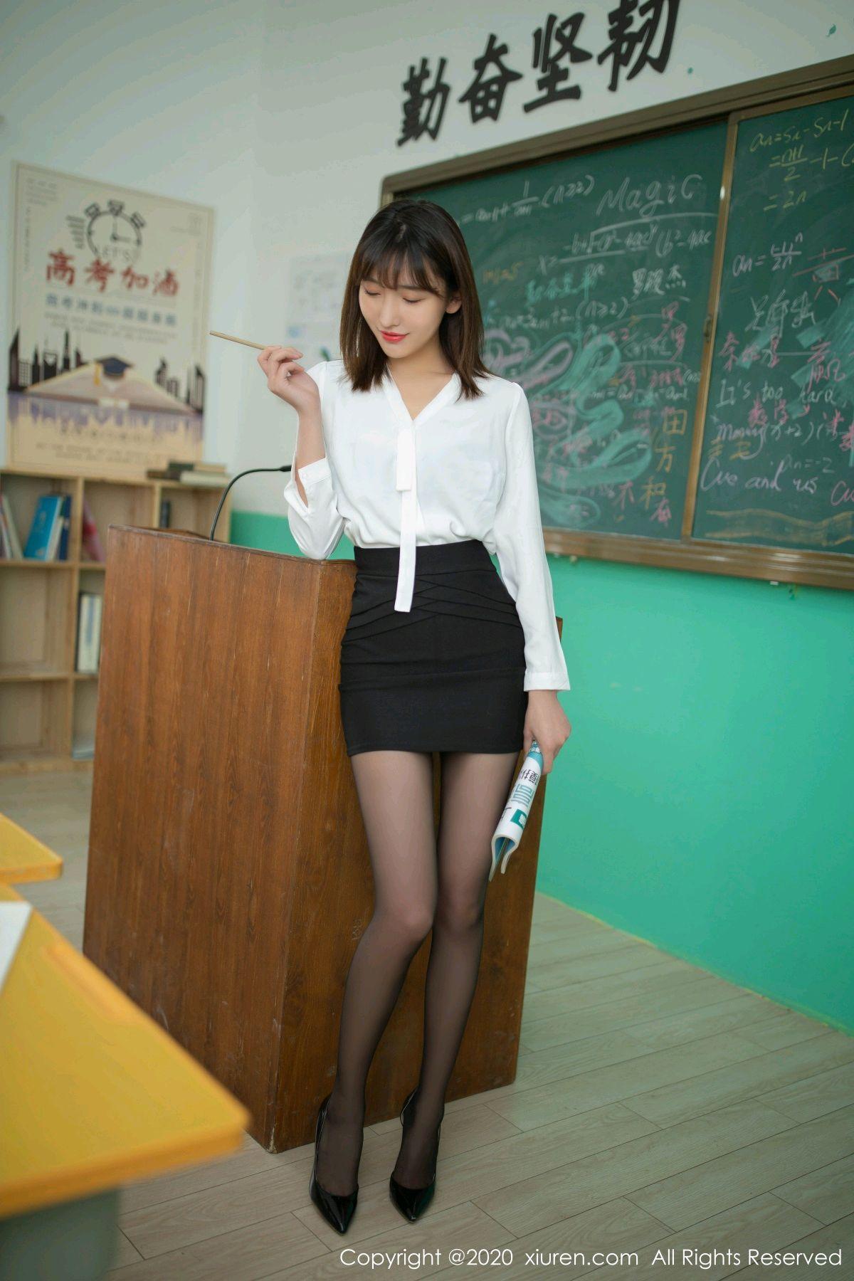 [XiuRen] Vol.2343 Lu Xuan Xuan 3P, Black Silk, Lu Xuan Xuan, Underwear, Xiuren
