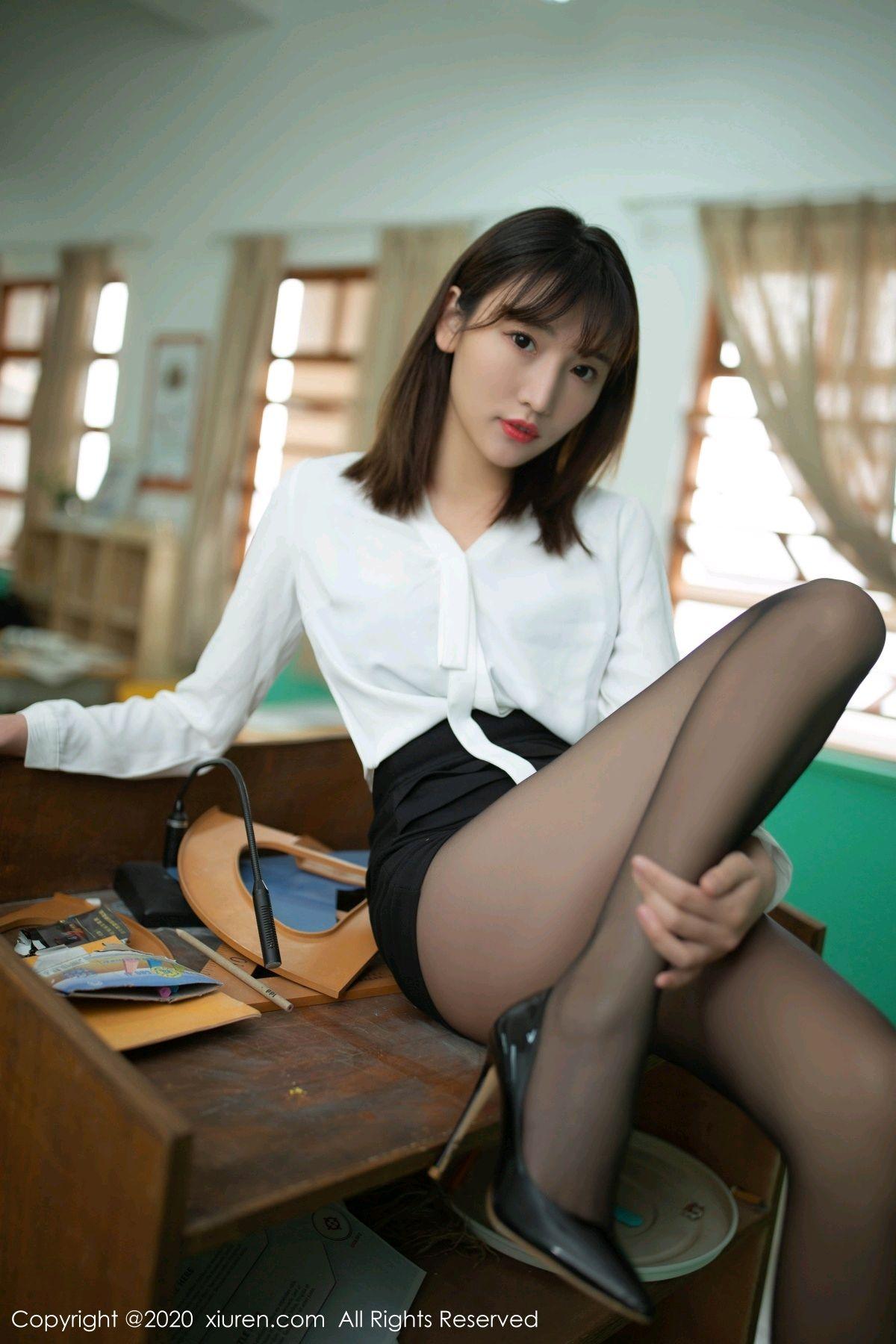 [XiuRen] Vol.2343 Lu Xuan Xuan 72P, Black Silk, Lu Xuan Xuan, Underwear, Xiuren
