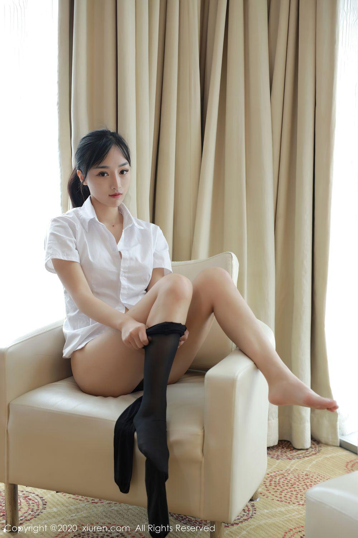 [XiuRen] Vol.2349 Ji Yu Lu 31P, Ji Yu Lu, Underwear, Uniform, Xiuren