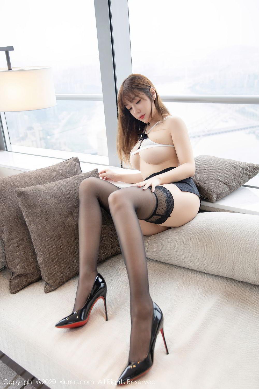 [XiuRen] Vol.2358 Wang Yu Chun 13P, Black Silk, Mature, Wang Yu Chun, Xiuren