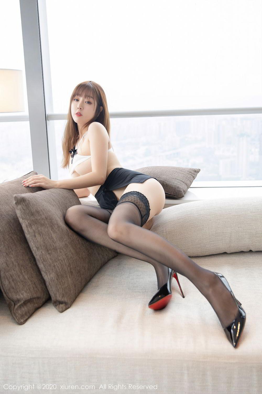 [XiuRen] Vol.2358 Wang Yu Chun 15P, Black Silk, Mature, Wang Yu Chun, Xiuren