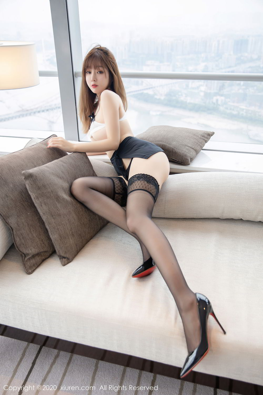[XiuRen] Vol.2358 Wang Yu Chun 16P, Black Silk, Mature, Wang Yu Chun, Xiuren