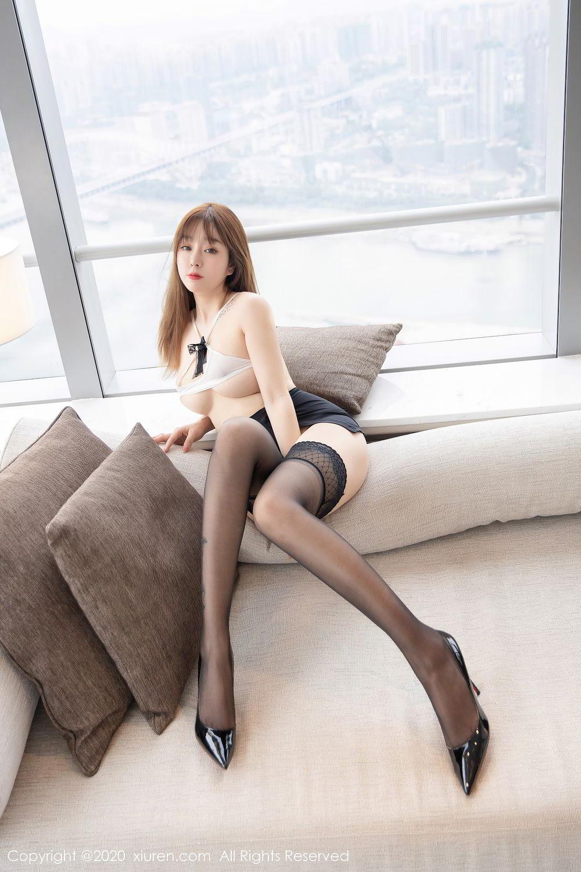 [XiuRen] Vol.2358 Wang Yu Chun 19P, Black Silk, Mature, Wang Yu Chun, Xiuren