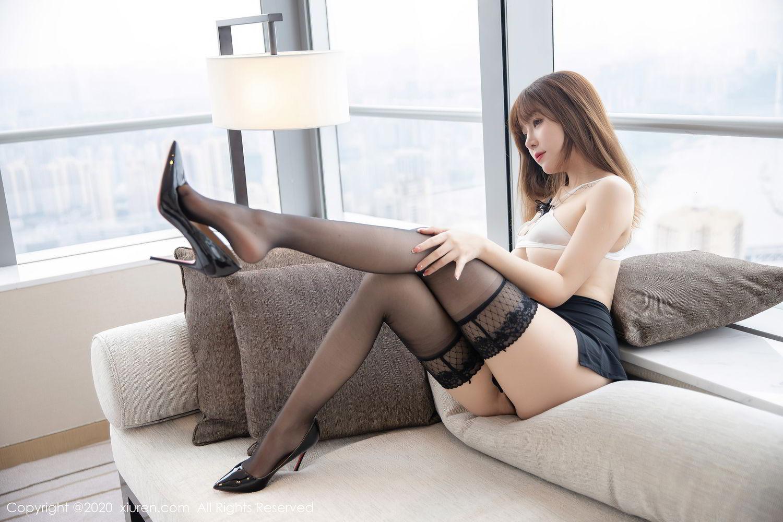 [XiuRen] Vol.2358 Wang Yu Chun 23P, Black Silk, Mature, Wang Yu Chun, Xiuren