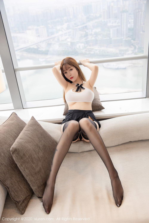 [XiuRen] Vol.2358 Wang Yu Chun 24P, Black Silk, Mature, Wang Yu Chun, Xiuren