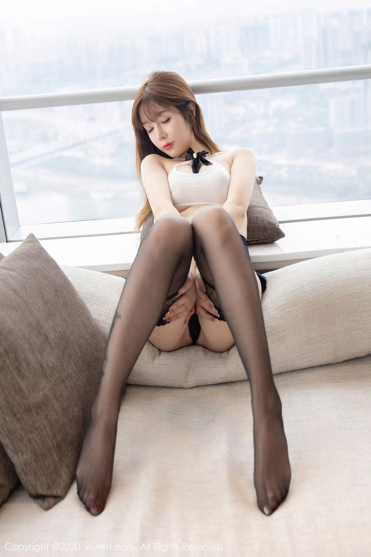 [XiuRen] Vol.2358 Wang Yu Chun 28P, Black Silk, Mature, Wang Yu Chun, Xiuren