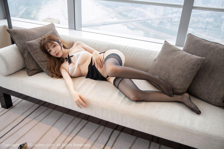 [XiuRen] Vol.2358 Wang Yu Chun 34P, Black Silk, Mature, Wang Yu Chun, Xiuren