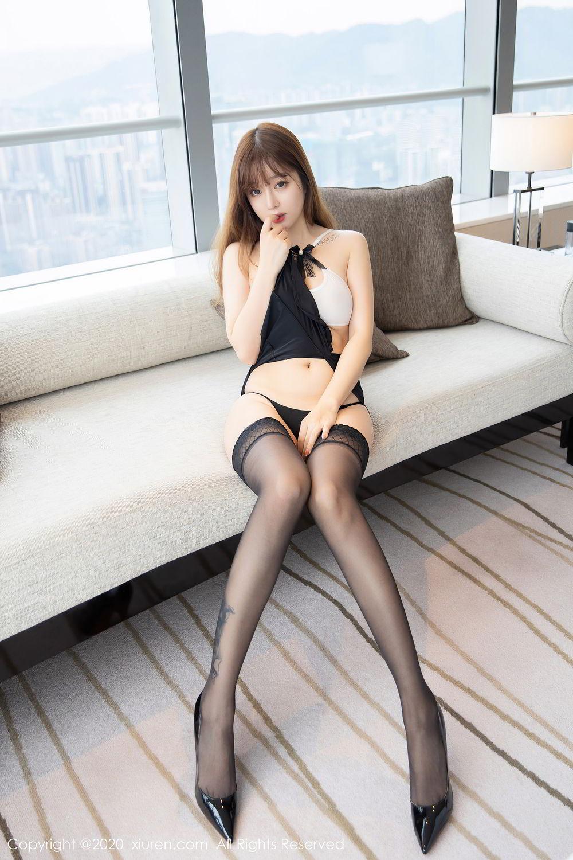 [XiuRen] Vol.2358 Wang Yu Chun 6P, Black Silk, Mature, Wang Yu Chun, Xiuren