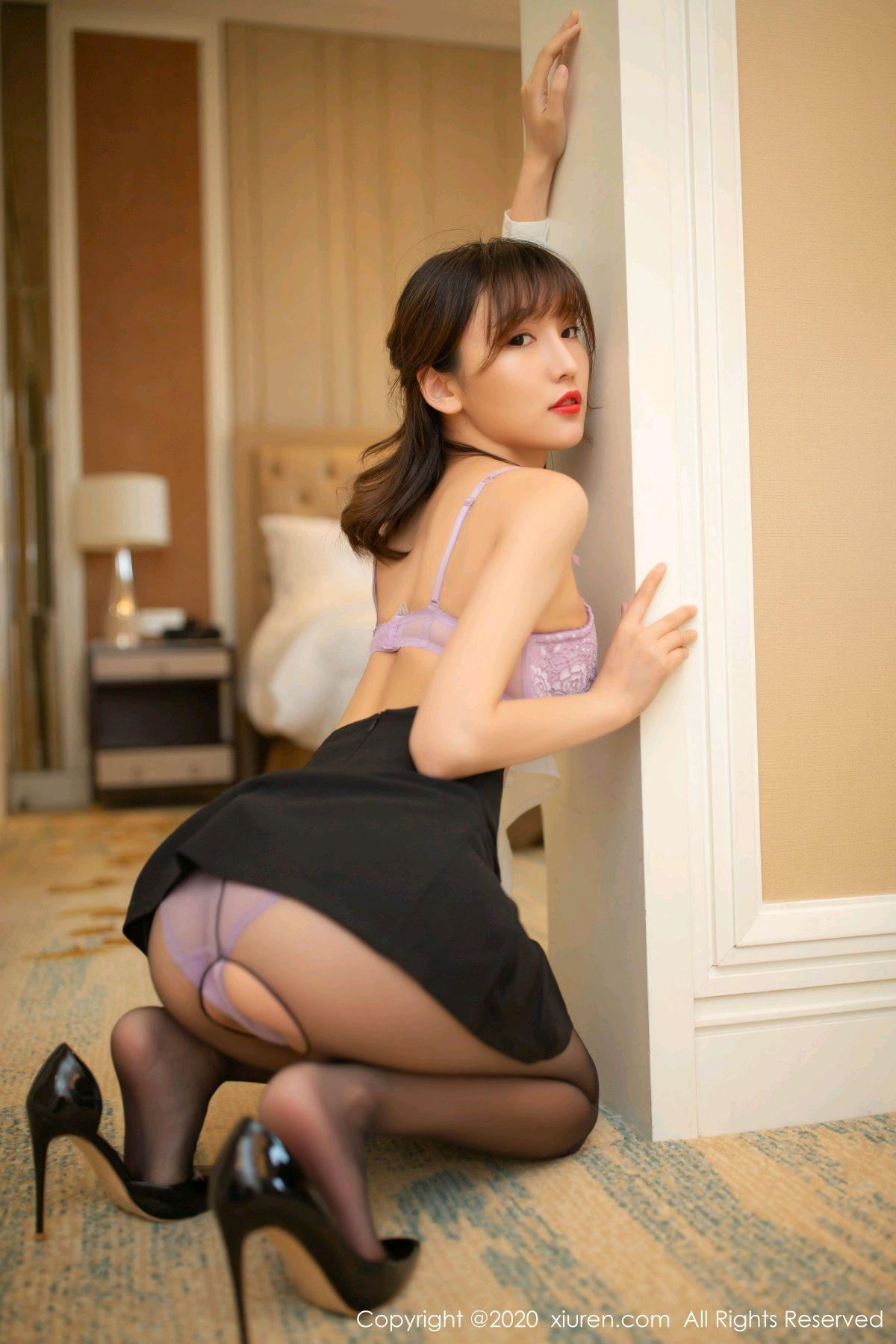 [XiuRen] Vol.236 Lu Xuan Xuan 11P, Black Silk, Lu Xuan Xuan, Underwear, Xiuren