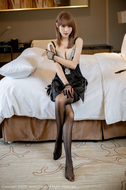 [XiuRen] Vol.2360 Zhou Mu Xi 1P, Temperament, Underwear, Uniform, Xiuren, Zhou Mu Xi