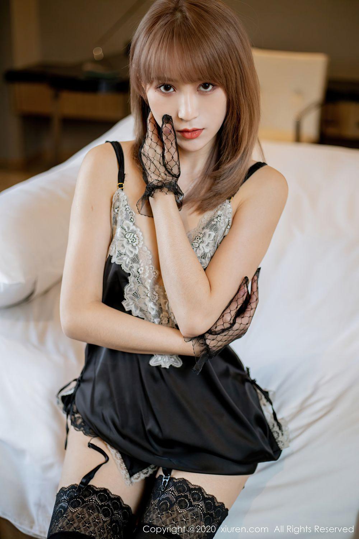 [XiuRen] Vol.2360 Zhou Mu Xi 7P, Temperament, Underwear, Uniform, Xiuren, Zhou Mu Xi