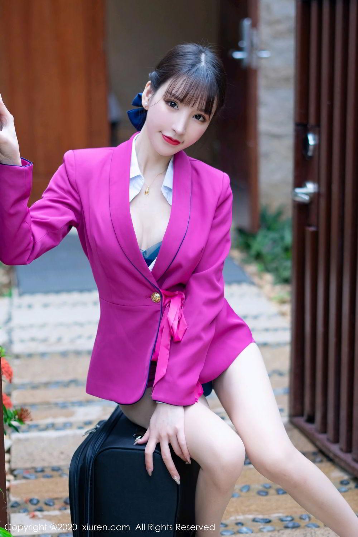 [XiuRen] Vol.2367 Zhou Yu Xi 10P, Stewardess, Underwear, Xiuren, Zhou Yu Xi