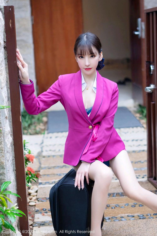 [XiuRen] Vol.2367 Zhou Yu Xi 11P, Stewardess, Underwear, Xiuren, Zhou Yu Xi