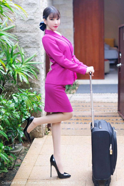 [XiuRen] Vol.2367 Zhou Yu Xi 12P, Stewardess, Underwear, Xiuren, Zhou Yu Xi