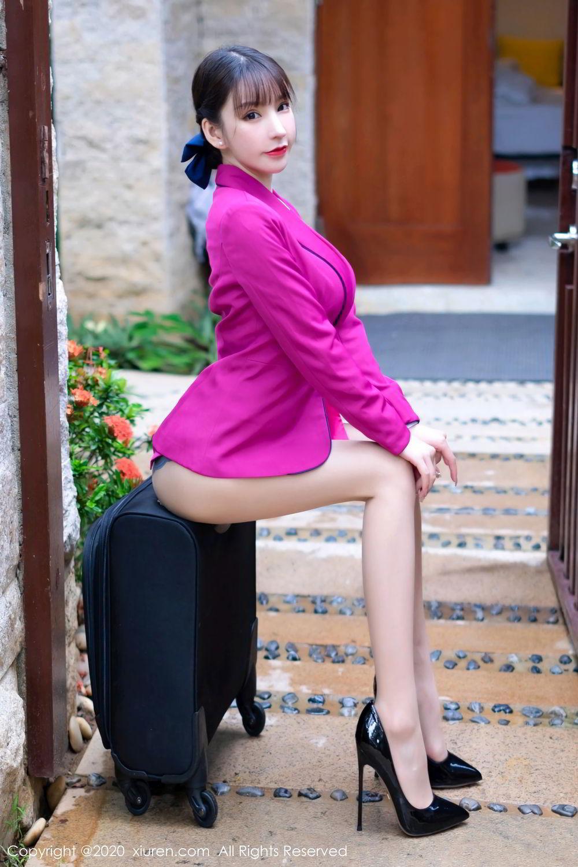[XiuRen] Vol.2367 Zhou Yu Xi 14P, Stewardess, Underwear, Xiuren, Zhou Yu Xi