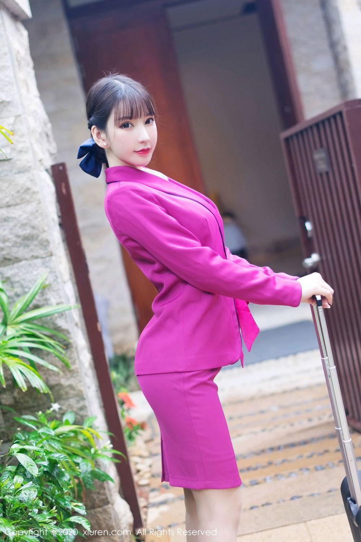 [XiuRen] Vol.2367 Zhou Yu Xi 1P, Stewardess, Underwear, Xiuren, Zhou Yu Xi