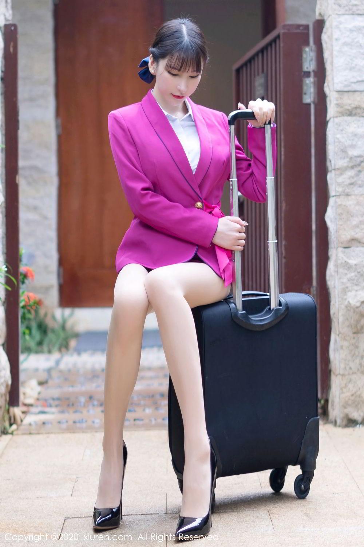 [XiuRen] Vol.2367 Zhou Yu Xi 2P, Stewardess, Underwear, Xiuren, Zhou Yu Xi