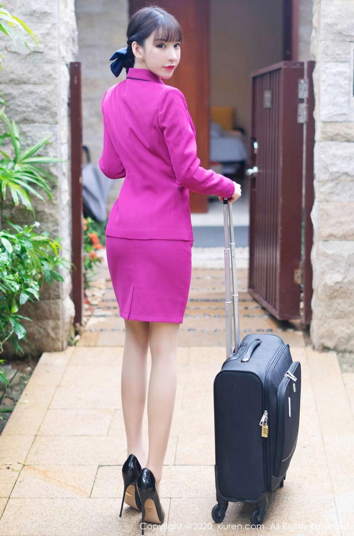 [XiuRen] Vol.2367 Zhou Yu Xi 34P, Stewardess, Underwear, Xiuren, Zhou Yu Xi