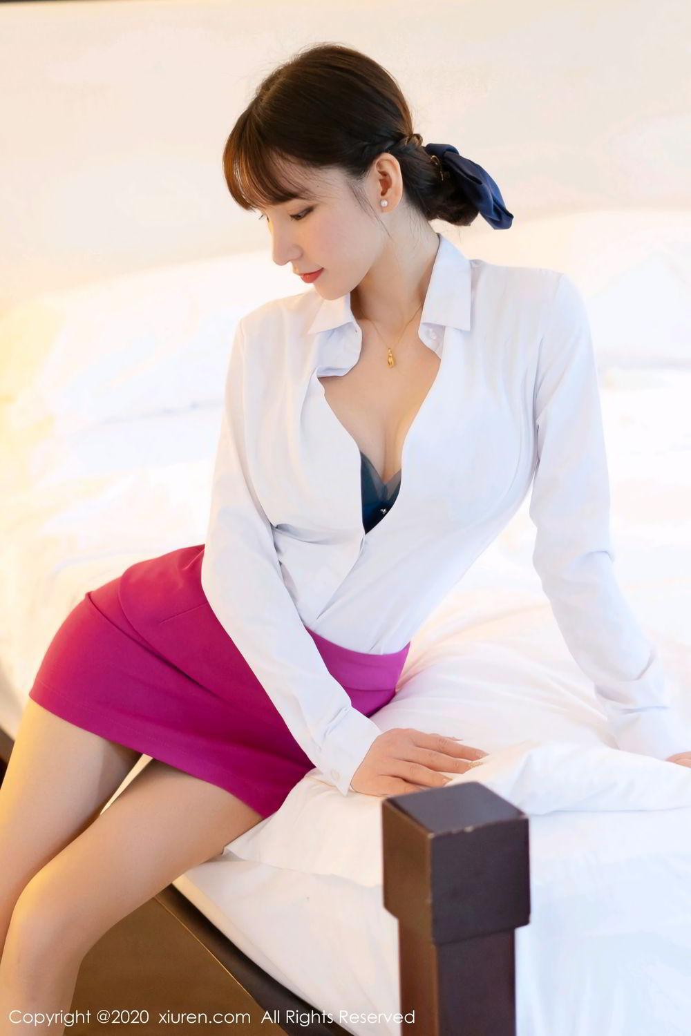 [XiuRen] Vol.2367 Zhou Yu Xi 42P, Stewardess, Underwear, Xiuren, Zhou Yu Xi
