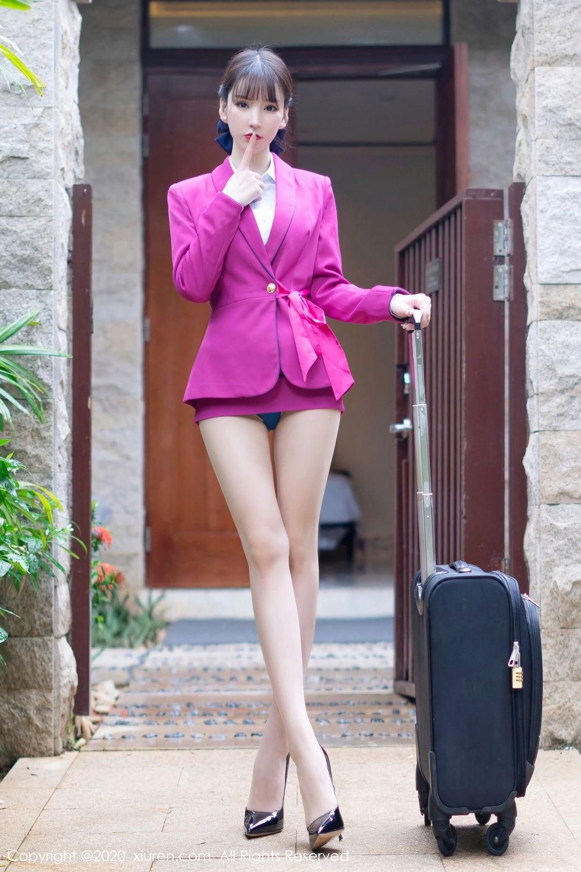 [XiuRen] Vol.2367 Zhou Yu Xi 4P, Stewardess, Underwear, Xiuren, Zhou Yu Xi